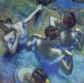 Blue Dancers, c.1899 (pastel) wallpaper mural thumbnail