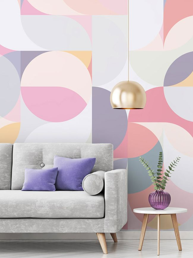 3 Tips On Styling Geometric Wallpaper