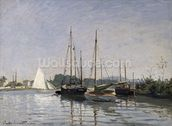 Pleasure Boats, Argenteuil, c.1872-3 (oil on canvas) mural wallpaper thumbnail
