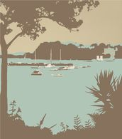 Sandbanks and Brownsea Island wallpaper mural thumbnail
