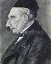 Portrait of the Artists Grandfather, 1881 (charcoal on paper) wall mural thumbnail