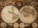 Vintage World Map wall mural thumbnail