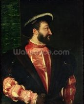 Portrait of Francis I (1494-1547) 1538 (oil on canvas) wallpaper mural thumbnail