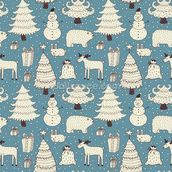All About Christmas mural wallpaper thumbnail