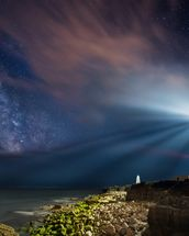 Portland Bill Night wall mural thumbnail