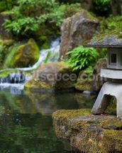 Japanese Garden Rock Lantern mural wallpaper thumbnail