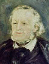 Portrait of Richard Wagner (1813-83), 1893 (oil on canvas) (see also 27900) mural wallpaper thumbnail
