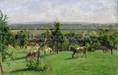Hillside of Vesinet, Yvelines, 1871 (oil on canvas) mural wallpaper thumbnail