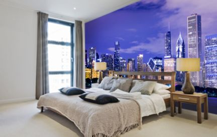 Chicago wall murals chicago wallpaper wallsauce usa for Chicago skyline mural wallpaper