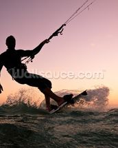 Kite boarding. Kitesurf freestyle wallpaper mural thumbnail
