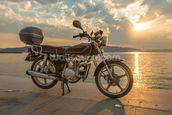 Motorbike Sunset wall mural thumbnail