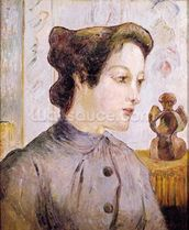 Portrait of a Young Woman, 1886 (oil on canvas) mural wallpaper thumbnail