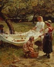 The Apple Gatherers, 1880 mural wallpaper thumbnail