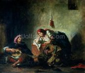 Jewish Musicians in Mogador, 1847 (oil on canvas) mural wallpaper thumbnail