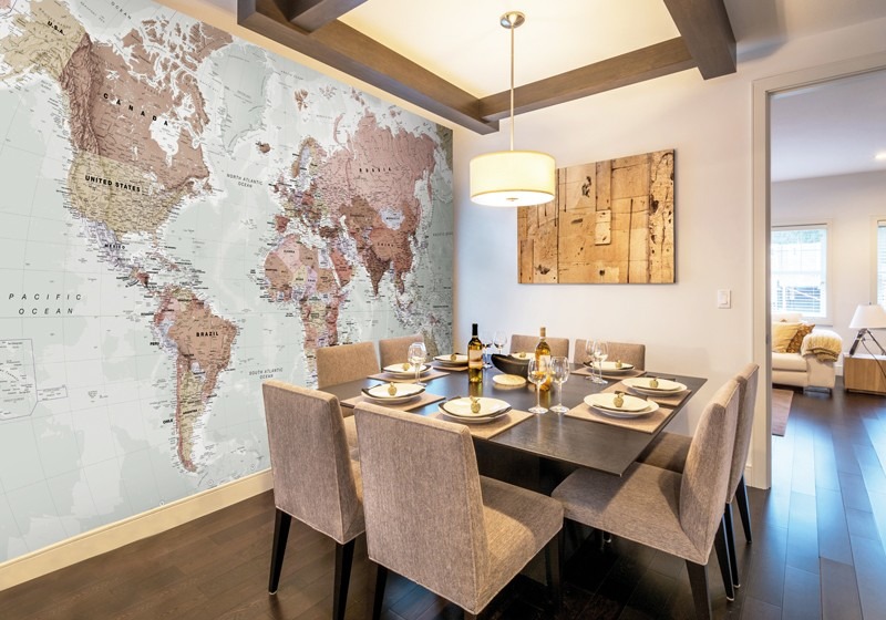 Family home decor how to create a child friendly home for Executive world map wall mural