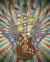 Rock n Roll wall mural thumbnail
