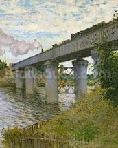 The Railway Bridge at Argenteuil, 1874 (oil on canvas) mural wallpaper thumbnail