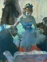 Dancer in her dressing room (pastel) wall mural thumbnail