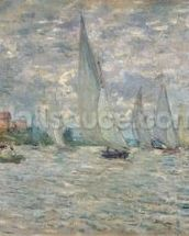 The Boats, or Regatta at Argenteuil, c.1874 (oil on canvas) wall mural thumbnail