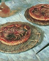 Fruit Tarts, 1882 (oil on canvas) mural wallpaper thumbnail