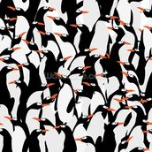 Penguins Pattern mural wallpaper thumbnail