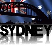 Sydney Abstract wallpaper mural thumbnail