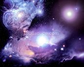 Fantasy Space Nebula wall mural thumbnail