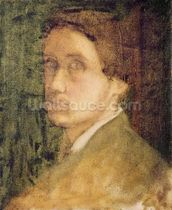 Self Portrait, c.1852 (pastel on paper) mural wallpaper thumbnail