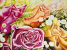 Colorful Flowers In Bouquet wall mural thumbnail