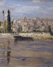Carrieres-Saint-Denis, 1872 (oil on canvas) wall mural thumbnail