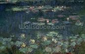 Waterlilies: Green Reflections, 1914-18 (right section) (oil on canvas) (see also 70302 & 56004) wallpaper mural thumbnail