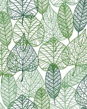 Dark and Light Green Leaves mural wallpaper thumbnail