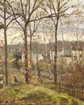 Winter Landscape at Louveciennes, c.1870 (oil on canvas) wall mural thumbnail