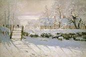 The Magpie, 1869 (oil on canvas) mural wallpaper thumbnail