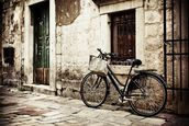 Bicycle mural wallpaper thumbnail
