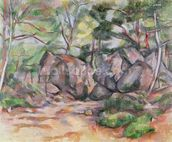 Woodland with Boulders, 1893 (oil on canvas) mural wallpaper thumbnail