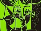 Picasso - Green wall mural thumbnail
