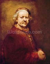 Self Portrait in at the Age of 63, 1669 (oil on canvas) mural wallpaper thumbnail