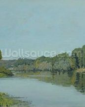 The Seine at Bougival, 1873 (oil on canvas) wallpaper mural thumbnail
