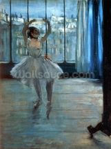 Dancer in Front of a Window (Dancer at the Photographers Studio) c.1874-77 (oil on canvas) wall mural thumbnail