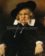 Portrait of an old man, 1667 (oil on canvas) wallpaper mural thumbnail