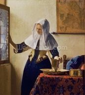 Young Woman with a Water Jug, c.1662 (oil on canvas) mural wallpaper thumbnail