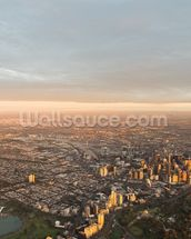 Aerial View of Melbourne wallpaper mural thumbnail