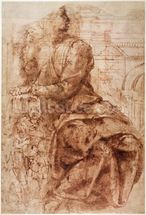 Study of Sibyl (ink on paper) wall mural thumbnail