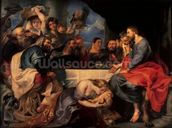 Feast in the house of Simon the Pharisee, c.1620 (oil on canvas) wall mural thumbnail