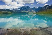 Turquoise Lake In Lake Clark National Park wall mural thumbnail