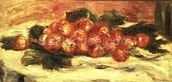 Strawberries on a White Tablecloth mural wallpaper thumbnail