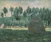 Haystacks near Giverny, c.1884-89 (oil on canvas) wallpaper mural thumbnail