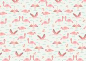 Flamingos wallpaper mural thumbnail