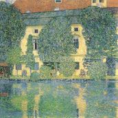 The Schlosskammer on the Attersee III, 1910 (oil on canvas) wall mural thumbnail
